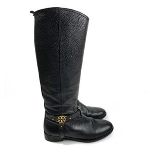 Tory Burch Elle Tall Leather Riding Boots